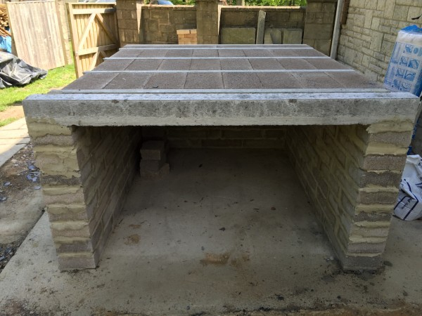 a well made base for a medium sized wood-fired oven
