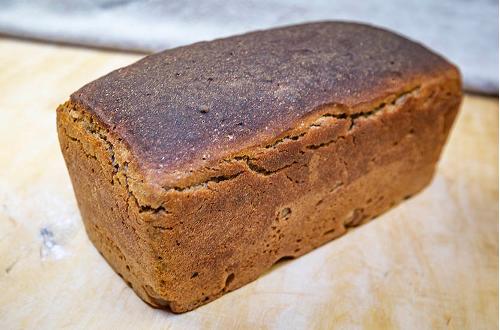 Sourdough rye tin loaf